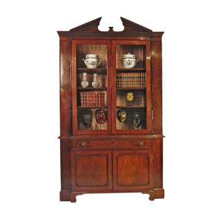 Breakfront George III style Secretary Desk