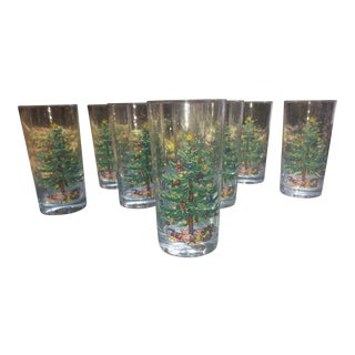 """Presents Under the Tree"" Glasses - Set of 8"
