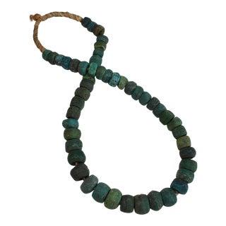 Rare Antique African Green Hebron Kano Trading Beads