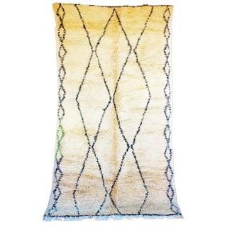 "Vintage Beni Ourain Moroccan Berber Rug - 6'3"" X 11'4"""