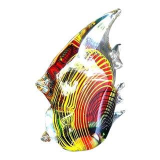 Multicolor Double Angel Fish Murano Style Glass