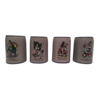Vintage Gerz German Steins - Set of 4