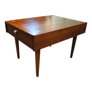 Mid-Century Walnut End Table by Merton Gershun for American of Martinsville