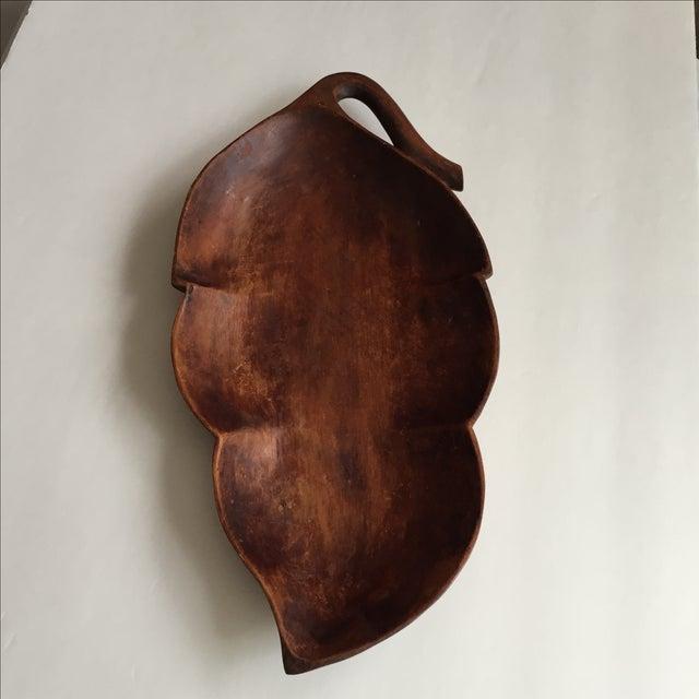 Wood Palm Leaf Platter - Image 2 of 9