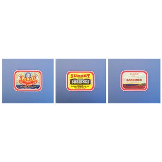 1930-40s American Sardine Labels - Set of 3