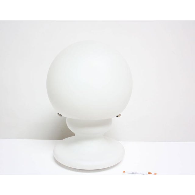 Substantial Mid-Century Italian Modern Cased and Frosted Glass Lamp - Image 3 of 10