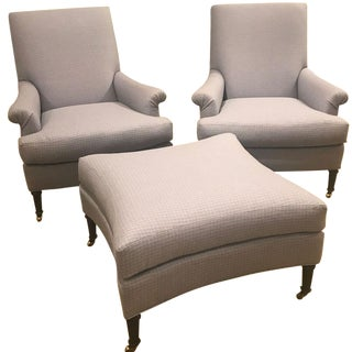 Hickory Chair Virginia Chairs & Ottoman - Set of 3