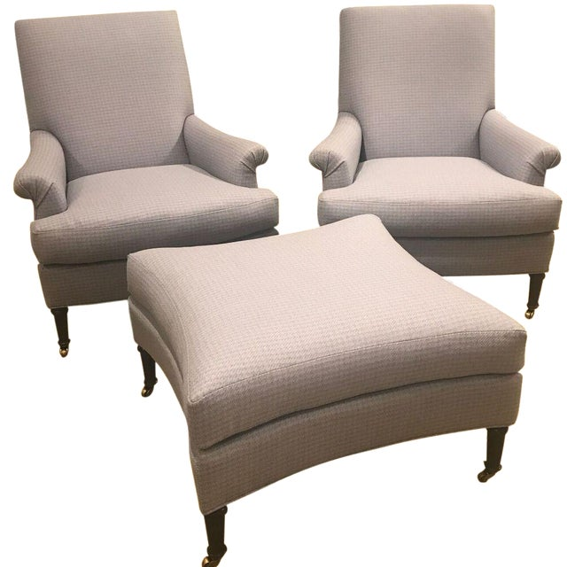 Hickory Chair Virginia Chairs & Ottoman - Set of 3 - Image 1 of 8