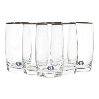 Slovakia Gilt Rim Glass Tumblers, Set of 5