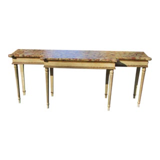 Neoclassical Marble Top Console
