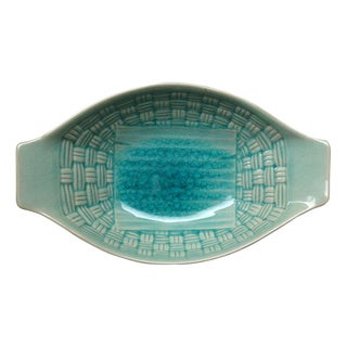 Seagreen Stoneware Serving Dish from Thailand