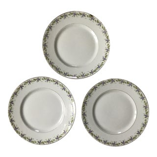 Bernardaud Limoges Porcelain Plates - Set of 3