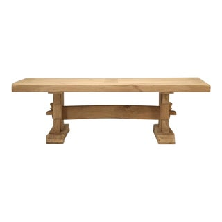 Antique French Oak Trestle Dining Table