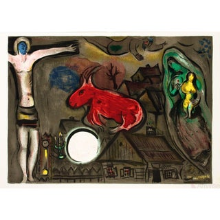 "Marc Chagall ""The Crucifixion"" Lithograph Poster"