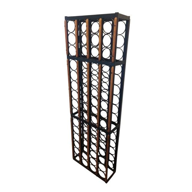 Vintage Iron Wood Wine Rack Chairish