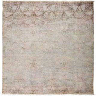 """Vibrance, Hand Knotted Area Rug - 6' 0"""" x 6' 1"""""""