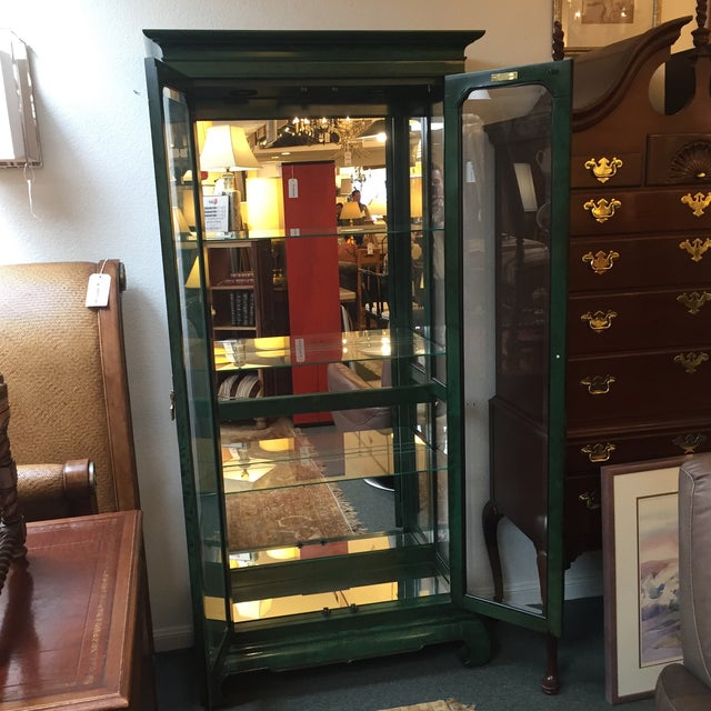 Emerald Curio Cabinet by American of Martinsville - Image 8 of 11
