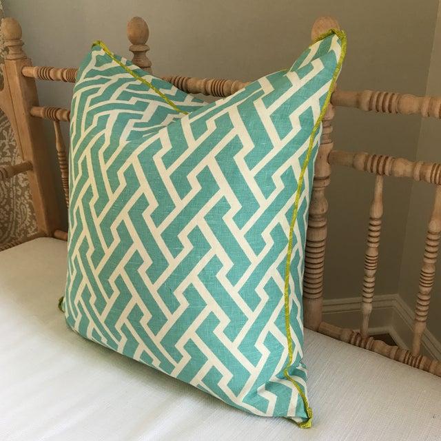 Quadrille China Seas Aga Aqua Pillow - Image 4 of 6