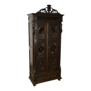 Antique Jacobean Flemish Carved Cabinet