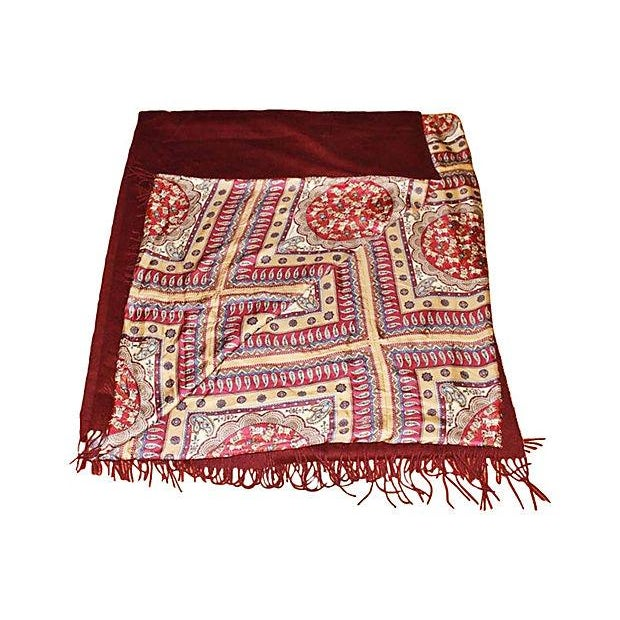 Ferragamo Silk Cashmere Pashmina Throw - Image 2 of 7