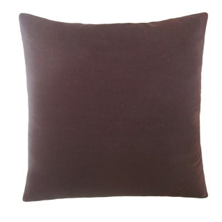 "Brown 18"" Silk Pillow"