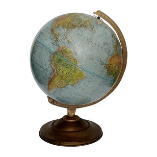 Vintage World Book Globe by Replogle on Stand