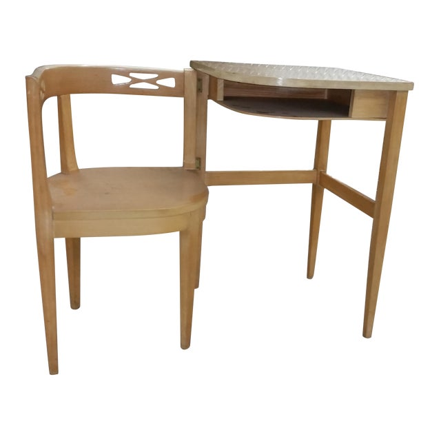 Image of Vintage Superior Swing Out Chair & Telephone Desk