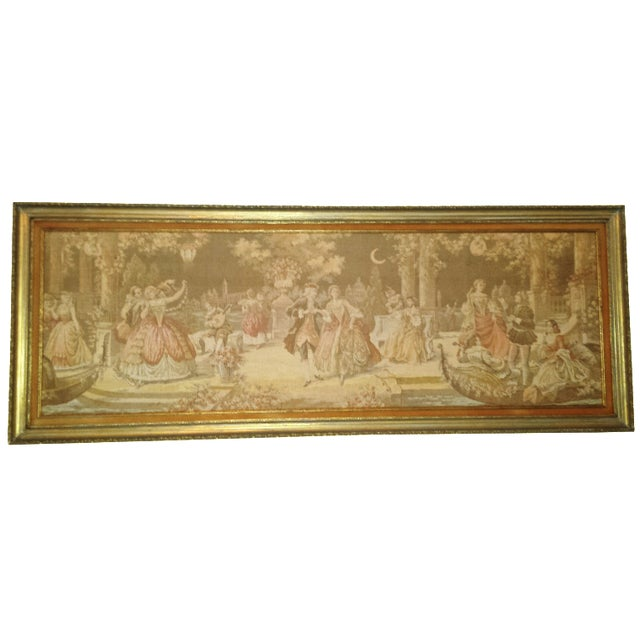 Antique Very Large Framed French Tapestry - Image 1 of 7