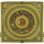 Image of Postmodern Enameled Brass Panel Studio Side Table