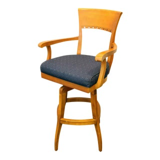 Blue High Top Swivel Chair