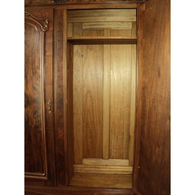 Antique Walnut 2 Door Wardrobe/Armoire - Image 7 of 8