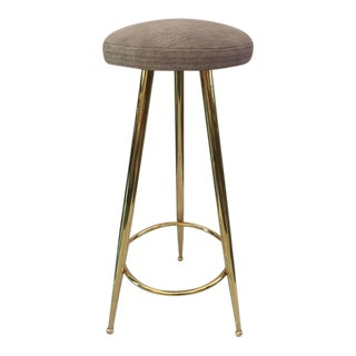 Vintage Italian Brass Bar Stool