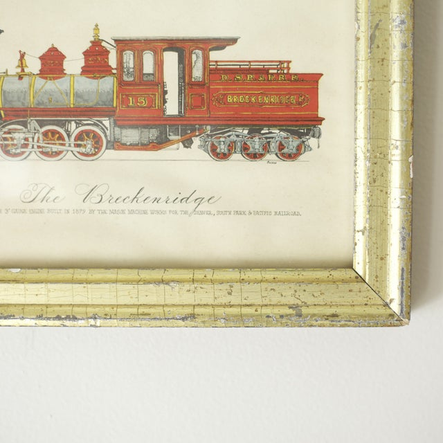 "Framed Train Print Titled ""The Breckenridge"" - Image 3 of 3"
