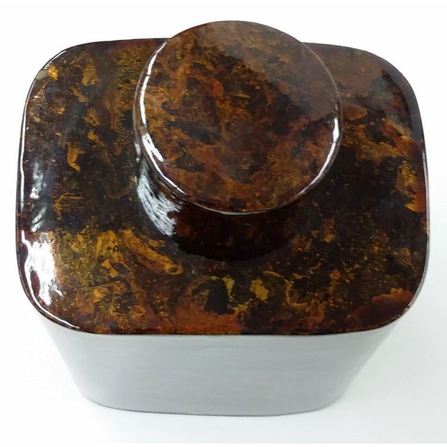 Image of Lacquerware Tea Caddy Chinese Collectible Art