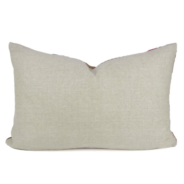 Purple Silk Aubergine Daisy Pillow - Image 2 of 3