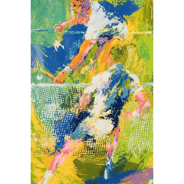 Tennis Players Serigraph By Leroy Neiman Chairish