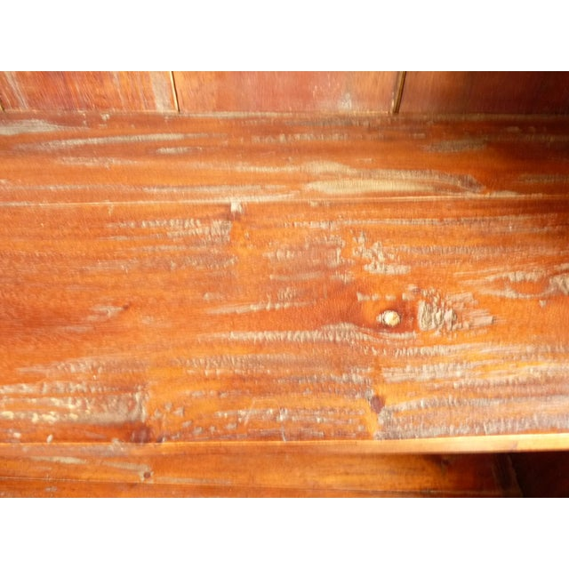 Rustic Wooden Bookcase - Image 7 of 11