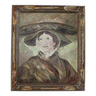"""Hogarth By Rodarty"" Oil Painting Of Woman"