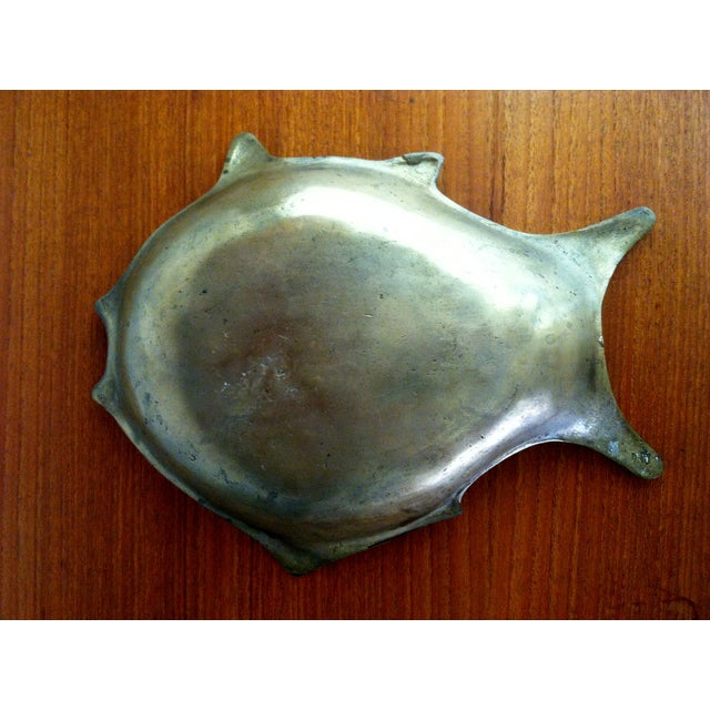 Image of Modernist Brass Fish Tray