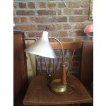 Image of Vintage Metal & Wood Industrial Desk Lamp