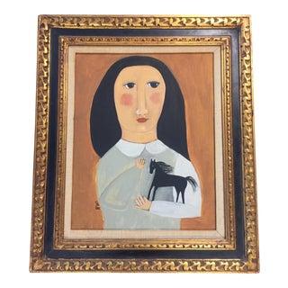 "Rose Walton ""Black Horse"" Painting"