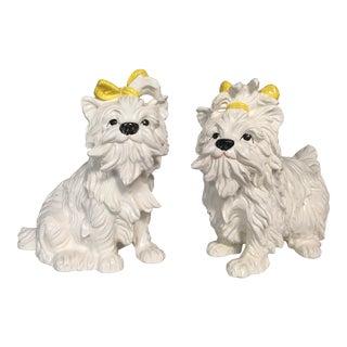 Italian Teracotta Terrier Dogs - A Pair
