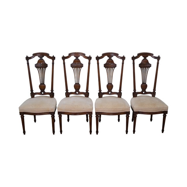Karges Walnut French Style Walnut Dining Chair - 4 - Image 1 of 10