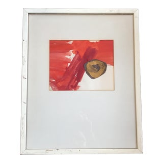 Framed Abstract Mixed Media Painting