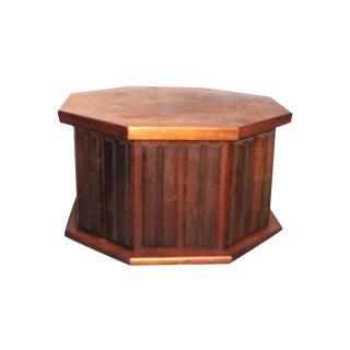 Mid-Century Modern Octagon Wood Side Cabinet