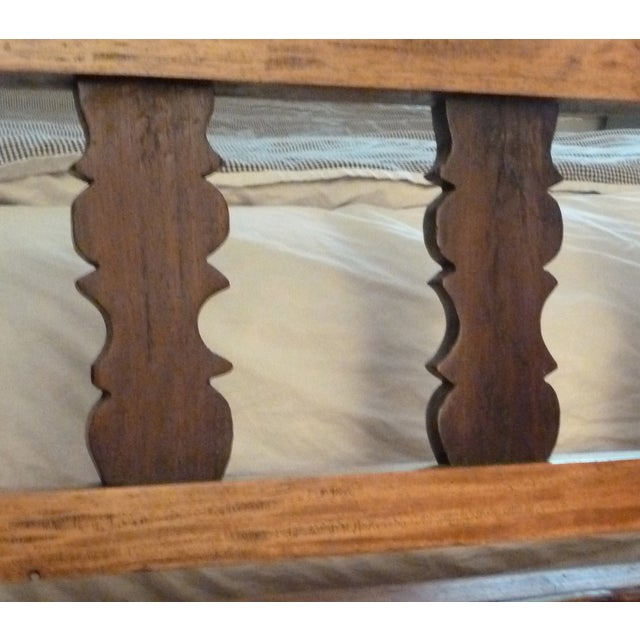 Reclaimed Tucker Robbins Exotic Wood Bench - Image 4 of 10