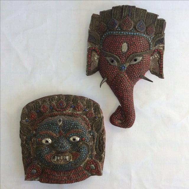 Large Buddhist Mask - Image 3 of 3