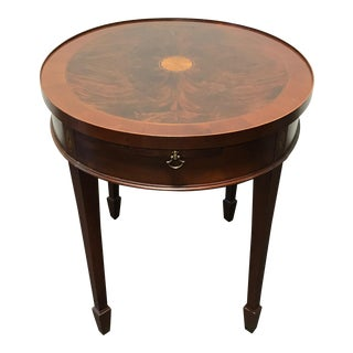 HEKMAN Copley Place Flame Mahogany Inlaid Banded Side End Table