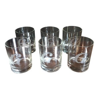 G Monogrammed Rock Glasses - Set of 6