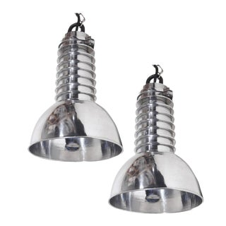 Pair of Hanging Industrial Fixtures
